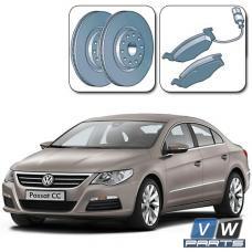 Замена передних тормозных колодок с дисками на Volkswagen Passat CC