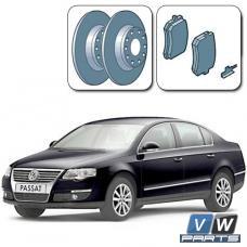 Диски тормозные задние с колодками на Volkswagen Passat B6 - замена