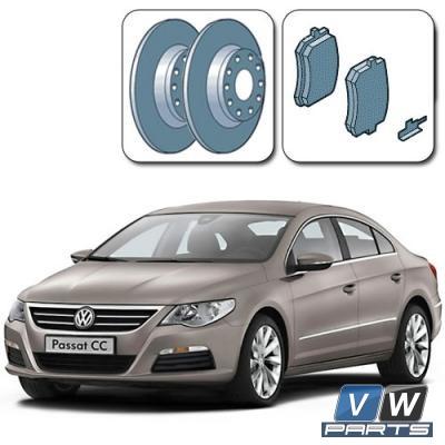 Замена задних тормозных колодок с дисками на Volkswagen Passat CC