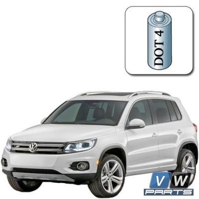Жидкость тормозная замена на автомобиле Volkswagen Tiguan
