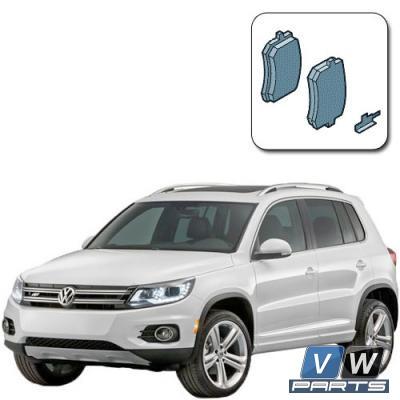 Колодки тормозные задние на Volkswagen Tiguan - замена