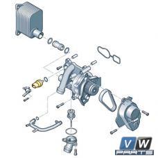 Датчик температуры охлаждающей жидкости на стороне двигателя Volkswagen Tiguan - замена