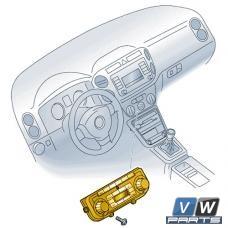 Блок управления системой кондиционирования Volkswagen Tiguan - замена