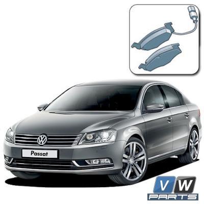 Колодки тормозные передние на Volkswagen Passat B7 - замена