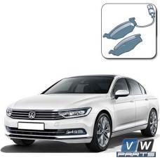 Колодки тормозные передние на Volkswagen Passat B8 - замена