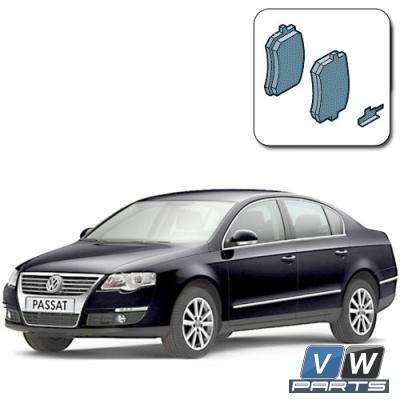 Колодки тормозные задние на Volkswagen Passat B6 - замена