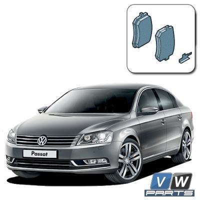 Колодки тормозные задние на Volkswagen Passat B7 - замена