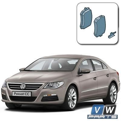 Колодки тормозные задние на Volkswagen Passat CC - замена