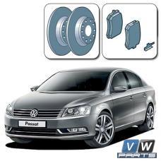 Диски тормозные задние с колодками на Volkswagen Passat B7 - замена