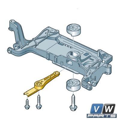 Опора двигателя задняя Volkswagen Tiguan - замена, vw-parts.ru