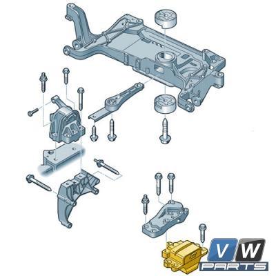 Опора двигателя левая Volkswagen Tiguan - замена, vw-parts.ru