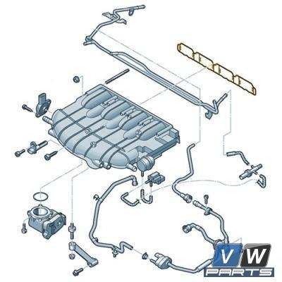 Прокладка впускного коллектора Volkswagen Tiguan - замена, vw-parts.ru
