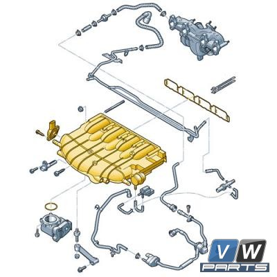 Коллектор впускной Volkswagen Tiguan (2.0 TSI) - замена, vw-parts.ru