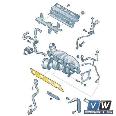 Прокладка выпускного коллектора Volkswagen Tiguan - замена, vw-parts.ru