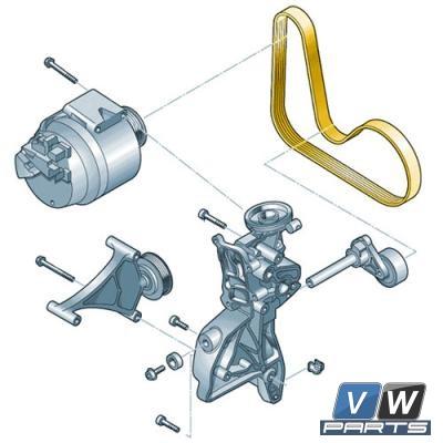 Ремень генератора Volkswagen Tiguan (2.0 TSI) - замена, vw-parts.ru