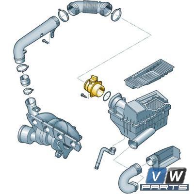 Расходомер воздуха Volkswagen Tiguan - замена, vw-parts.ru