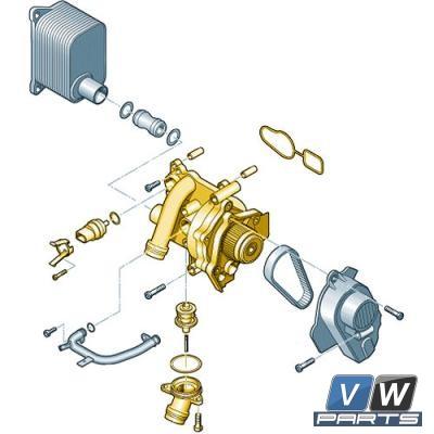 Насос подачи охлаждающих средств Volkswagen Tiguan - замена, vw-parts.ru