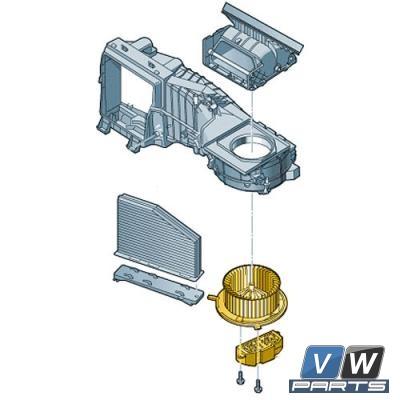 Мотор отопителя Volkswagen Tiguan - замена, vw-parts.ru