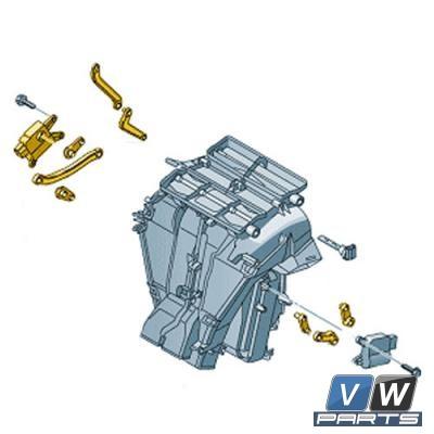Сервопривод температурной заслонки слева с климат-контролем Volkswagen Tiguan - замена, vw-parts.ru