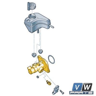 Главный тормозной цилиндр Volkswagen Tiguan - замена, vw-parts.ru