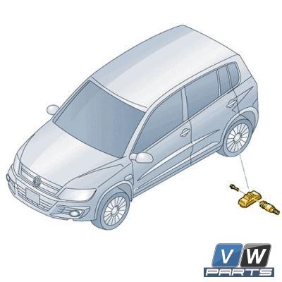 Датчик давления воздуха в шине Volkswagen Tiguan - замена (1 шт.), vw-parts.ru