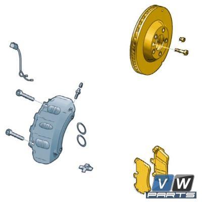 Диски тормозные задние с колодками Volkswagen Touareg NF - замена, vw-parts.ru
