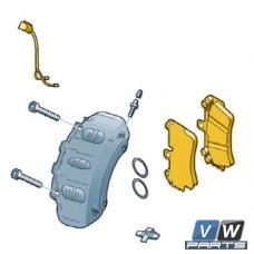 Колодки тормозные задние Volkswagen Touareg - замена