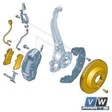 Диски тормозные передние с колодками Volkswagen Touareg - замена