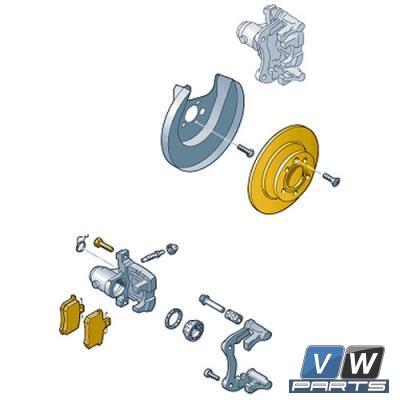 Диски тормозные задние с колодками Volkswagen Golf - замена, vw-parts.ru