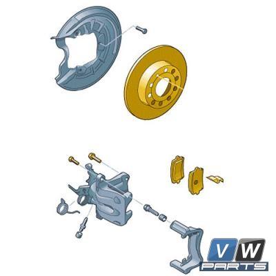 Диски тормозные задние с колодками Audi A3 - замена, vw-parts.ru
