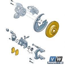 Диски тормозные задние с колодками Audi A4 - замена