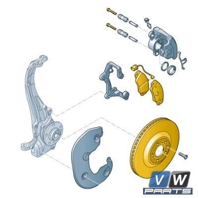 Диски тормозные передние с колодками Audi A5 - замена, vw-parts.ru