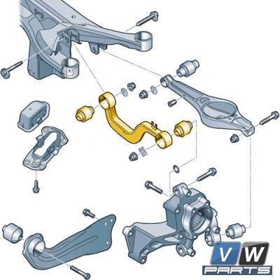 Рычаг подвески заднего моста поперечный верхний Volkswagen Tiguan - замена, vw-parts.ru