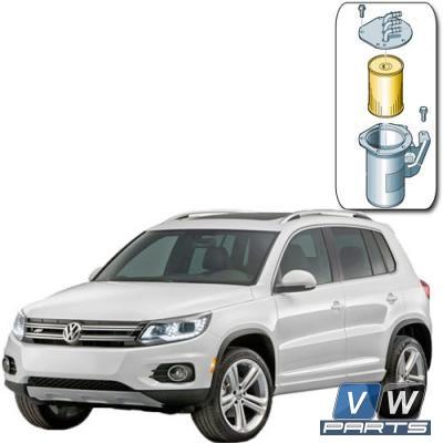 Фильтр топливный Volkswagen Tiguan (2.0 TDI) - замена, vw-parts.ru