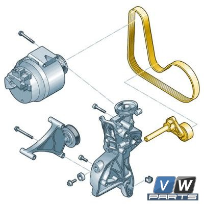 Ремень генератора с роликом Volkswagen Tiguan (2.0 TSI) - замена, vw-parts.ru