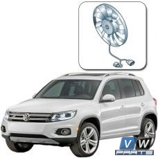 Вентилятор основной с блоком управления на автомобиле Volkswagen Tiguan I (2008-2016) - замена