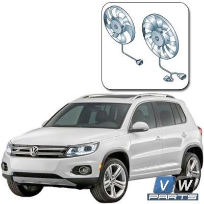 Вентиляторы (основной и дополнительный) на автомобиле Volkswagen Tiguan I (2008-2016) - замена