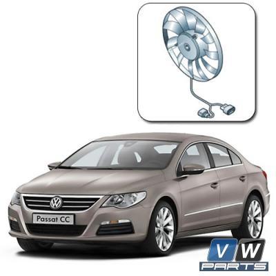 Замена вентилятора с блоком управления на автомобиле Volkswagen Passat CC