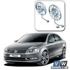 Замена двух вентиляторов с блоком управления на автомобиле Volkswagen Passat B7