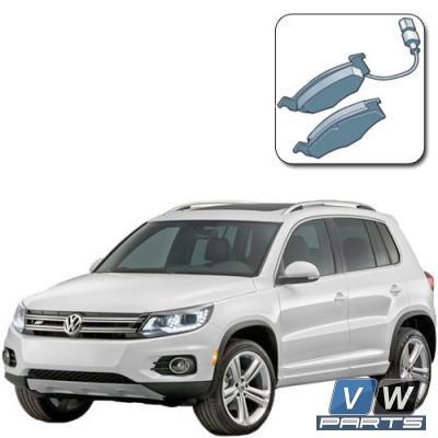Колодки тормозные передние на Volkswagen Tiguan - замена