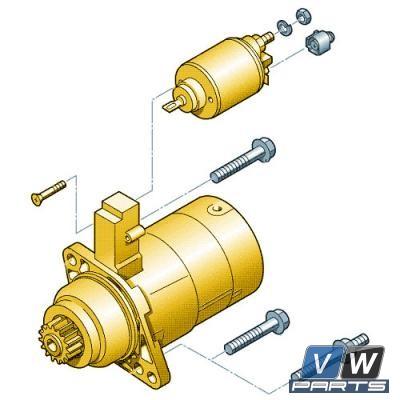 Стартер Volkswagen Tiguan - замена, vw-parts.ru