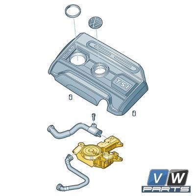 Маслоотделитель Volkswagen Tiguan - замена, vw-parts.ru