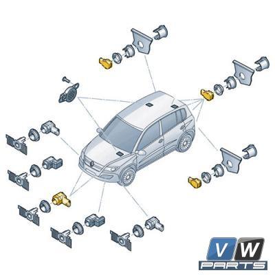 Датчик парковочного ассистента Volkswagen Tiguan - замена, vw-parts.ru