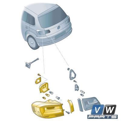 Задний фонарь снаружи Volkswagen Tiguan - замена, vw-parts.ru