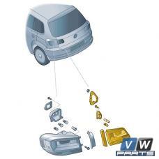Задний фонарь внутренний Volkswagen Tiguan - замена