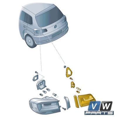 Задний фонарь внутренний Volkswagen Tiguan - замена, vw-parts.ru