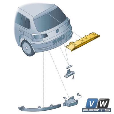 Дополнительный фонарь сигнала торможения Volkswagen Tiguan - замена, vw-parts.ru
