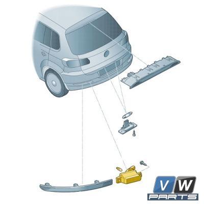 Фонарь заднего хода Volkswagen Tiguan - замена, vw-parts.ru