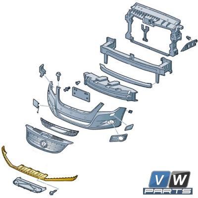 Спойлер переднего бампера Volkswagen Tiguan - замена, vw-parts.ru
