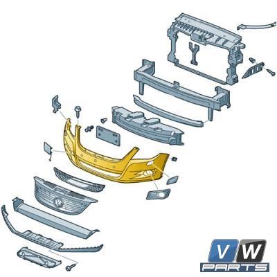 Бампер передний Volkswagen Tiguan - замена, vw-parts.ru